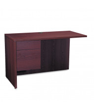 "HON 10500 Series 48"" L-Workstation Left Return with Pedestal, Mahogany"