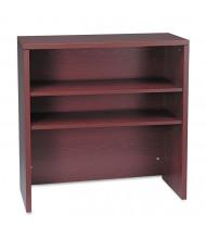 """HON 36"""" 2-Shelf Bookcase Hutch, Mahogany"""