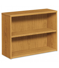 HON 105532CC 2-Shelf Laminate Bookcase in Harvest Finish