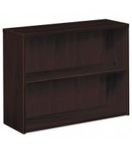 HON 105532NN 2-Shelf Laminate Bookcase in Mahogany Finish