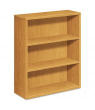 HON 105533CC 3-Shelf Laminate Bookcase in Harvest Finish