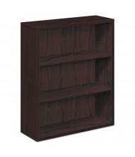 HON 105533NN 3-Shelf Laminate Bookcase in Mahogany Finish