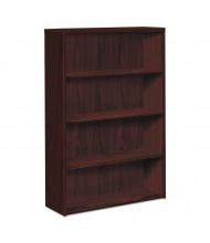 HON 105534NN 4-Shelf Laminate Bookcase in Mahogany Finish