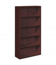 HON 105535NN 5-Shelf Laminate Bookcase in Mahogany Finish