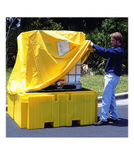 Ultratech 1055 IBC Intermediate Bulk Container Spill Pallet Pullover Cover (example of use, plus model shown)