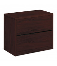 "HON 10563NN 2-Drawer 36"" Wide Lateral File Cabinet, Letter & Legal, Mahogany"