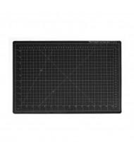 "Dahle Vantage 10671 12"" x 18"" PVC Self-Healing Cutting Mat, Black"