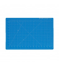 "Dahle Vantage 10691 12"" x 18"" PVC Self-Healing Cutting Mat, Blue"