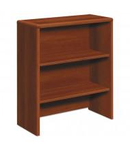 "HON 33"" 2-Shelf Bookcase Hutch, Cognac"