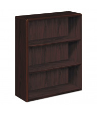 HON 10753NN 3-Shelf Wood Bookcase in Mahogany Finish