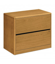 "HON 10762CC 2-Drawer 36"" Wide Lateral File Cabinet, Letter & Legal, Harvest"
