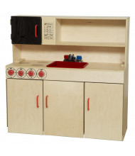 Wood Designs 5-N-1 Kitchen Center Dramatic Play Set (Shown in Red)