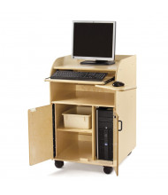"""Jonti-Craft 24"""" W Deluxe Mobile Technology Teacher's Workstation (Tub Not Included)"""