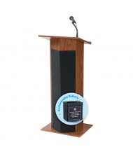 Oklahoma Sound Power Plus Wireless Sound System Lectern, Battery (Shown in Medium Oak)