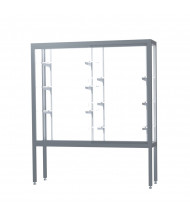 "Waddell Challenger 11405 Series Floor Display Case 60""W x 66""H x 16""D (Shown in White Laminate/Satin Natural)"