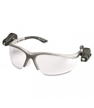 3M LightVision Safety Glasses with LED Lights, Gray Frame with Clear AntiFog Lens
