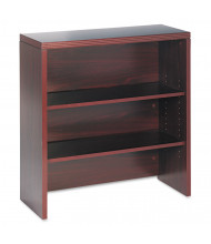 "HON Valido 36"" 2-Shelf Bookcase Hutch, Mahogany"