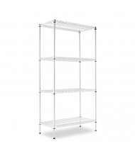 "Alera SW503618 36"" W x 18"" D x 72"" H 4-Shelf Wire Shelving Unit (Shown in Silver)"