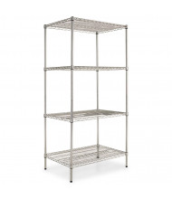 "Alera SW503624 36"" W x 24"" D x 72"" H 4-Shelf Wire Shelving Unit (Shown in Silver)"