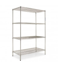"Alera SW504824SR 48"" W x 24"" D x 72"" H 4-Shelf Wire Shelving Unit, Silver"