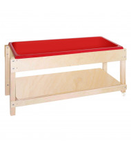 "Wood Designs 24"" H Sand and Water Table with Lid Shelf (Shown with lid used as lower shelf)"
