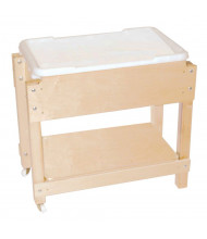 "Wood Designs 24"" H Petite Sand and Water Table with Lid Shelf"