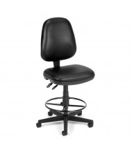 OFM Straton 119-VAM-DK Anti-Microbial Vinyl Drafting Chair, Footring (black)