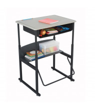 "Safco AlphaBetter 1202BE 28"" x 20"" Height Adjustable Stand-Up Book Box Student Desk (example of use)"