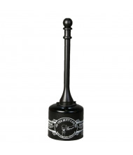 """Eagle Butt Can 5 Gal. 40"""" H Plastic Tube Steel Can Cigarette Receptacle (Shown in Black)"""