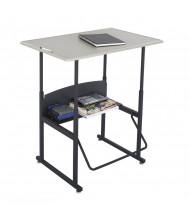 "Safco AlphaBetter 1206BE 36"" x 24"" Height Adjustable Stand-Up Student Desk (example of use)"
