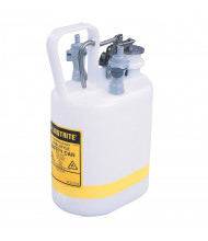 "Justrite 12160 Polyethylene 1 Gallon Disposal Safety Can, 3/8"" Fitting"