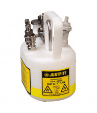 Justrite 12164 Polyethylene 0.5 Gallon In-Flow Disposal Safety Can