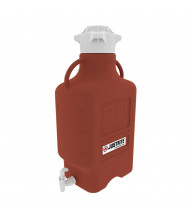 Justrite HDPE Spigot Carboys, Amber