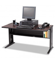 "Safco 1931 47.5"" W Reversible Top Steel Computer Desk (Shown in Reversible Mahogany)"