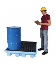 Ultratech Fluorinated Nestable Spill Pallets, 66 Gallons (4-drum model, example of application)