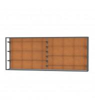 "Waddell Champion 12410 Series Wall Mountable Display Case 120""W x 48""H x 16""D (cork back/dark bronze)"