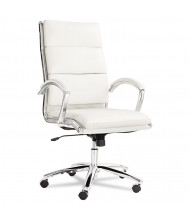 Alera Neratoli NR4106 High-Back Leather Slim Profile Executive Office Chair, White