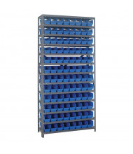 "Quantum Storage 12"" D Steel Shelving Units with 4"" H Bins (Shown with 96 Bins)"