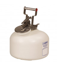 Justrite 12762 Wide-Mouth Polyethylene 2 Gallon Corrosive Safety Container
