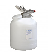 Justrite 12765 Wide-Mouth Polyethylene 5 Gallon Corrosive Safety Container