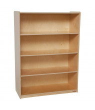 "Wood Designs Childrens Classroom Storage 4-Shelf Bookshelf, 49"" H x 36"" W x 15"" D (Shown in Birch)"