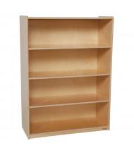 "Wood Designs 4-Shelf Classroom Bookshelf, Birch, 49"" H x 36"" W x 15"" D"