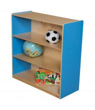 "Wood Designs Childrens Classroom Storage 3-Shelf Bookshelf, 36.75"" H (Shown in Blue)"