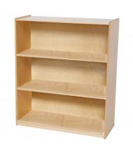 """Wood Designs Childrens Classroom Storage 3-Shelf Bookshelf, 42.44"""" H (Shown in Birch)"""