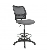 Office Star Space Seating Deluxe AirGrid Mesh-Back Fabric Drafting Chair (Shown in Grey)