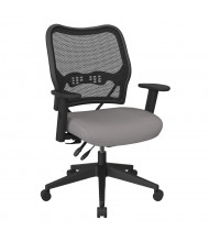 Office Star Space Seating 13-37N9WA Deluxe AirGrid Mesh Mid-Back Fabric Task Chair (Shown in Grey)