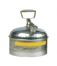 Eagle 1313 Stainless Steel 2.5 Gallon Safety Can with Teflon Cap Gasket