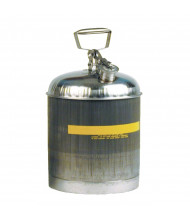 Eagle 1315 Stainless Steel 5 Gallon Safety Can with Teflon Cap Gasket