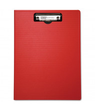 "Baumgartens 1/2"" Capacity 8-1/2"" x 11"" Low-Profile Portfolio Clipboard, Red"