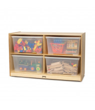 Jonti-Craft Jumbo Tote Cubbie Classroom Storage with Clear Jumbo Totes & Lids
